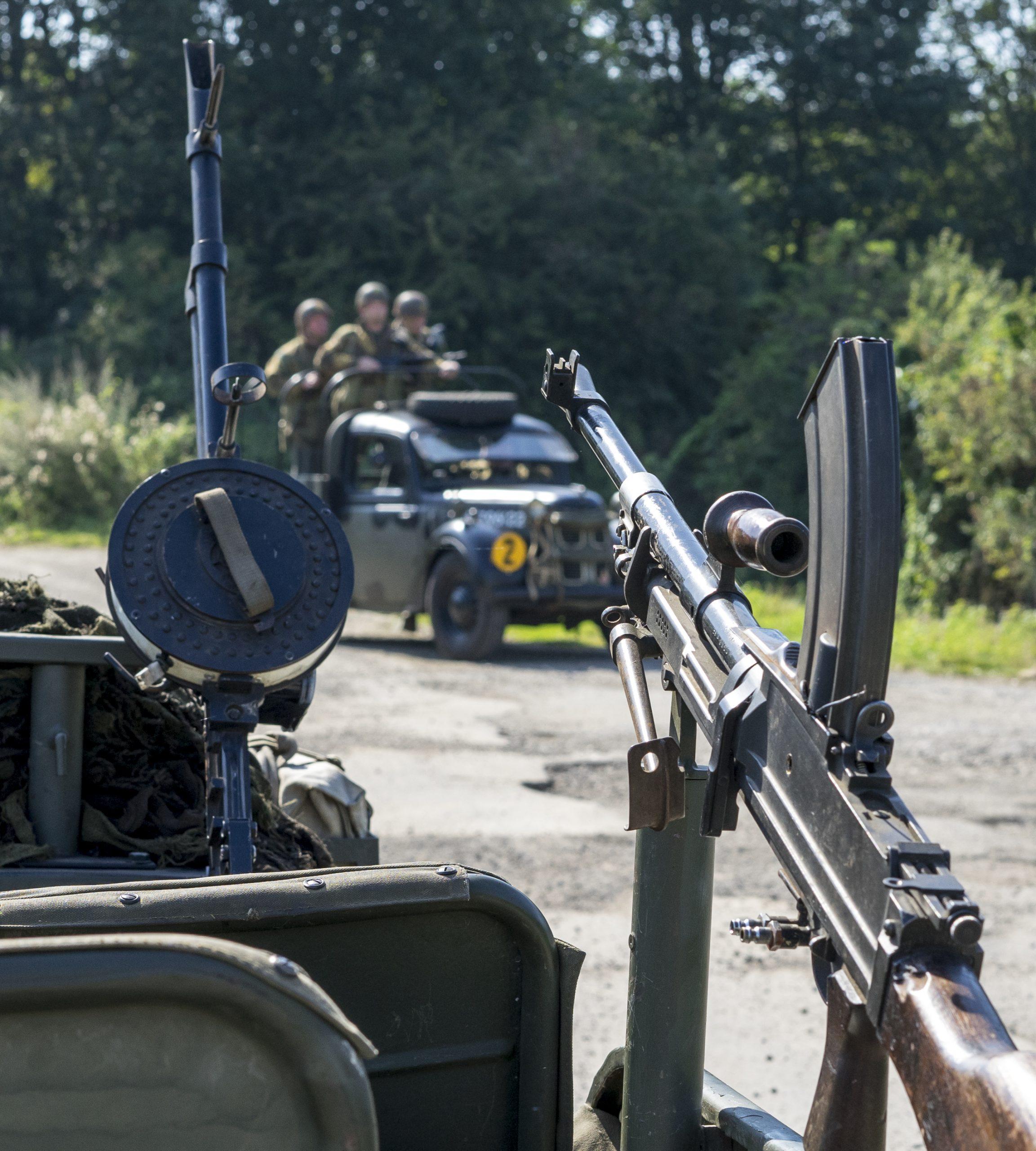 world war 2 rifle on a jeep